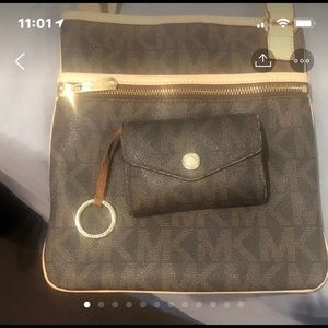 Michael Kors Crossbody with matching wallet